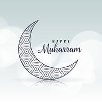 happy muharram creative moon design