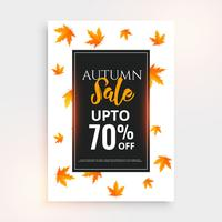 promotional autumn sale flyer design with text space