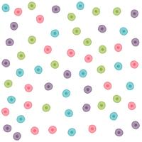 colorful hand drawn circle pattern background