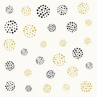 elegant dots circle pattern in black and gold colors