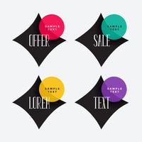 geometrisk försäljning och erbjudande etikett design