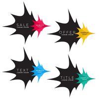 abstract surprise sale label design
