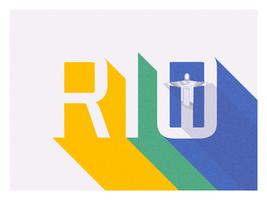 Rio Long Shadow Retro Typography Vector Design
