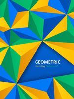Fundo geométrico no conceito de bandeira do Brasil