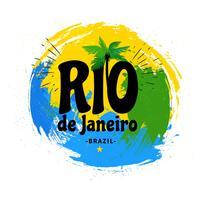 Rio De Janeiro Brazil Grunge Farbe streicht Hintergrund vektor