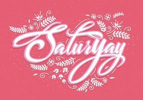 Saturyay Lettering Vector