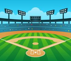 Baseball Stadium Background Vector