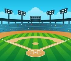 Vettore del fondo dello stadio di baseball