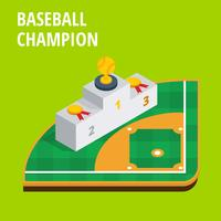 Baseball Champion Podium Isometric