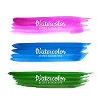 Hand drawn watercolor stroke colorful shade background