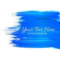 Modern blue watercolor stroke background vector