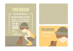Vector Birthday Invitation