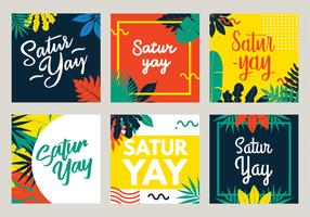 saturay belettering vector pack