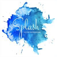 Splash bleu aquarelle moderne sur fond blanc