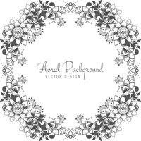 Abstract decorative wedding floral background