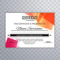 Beautiful colorful certificate background
