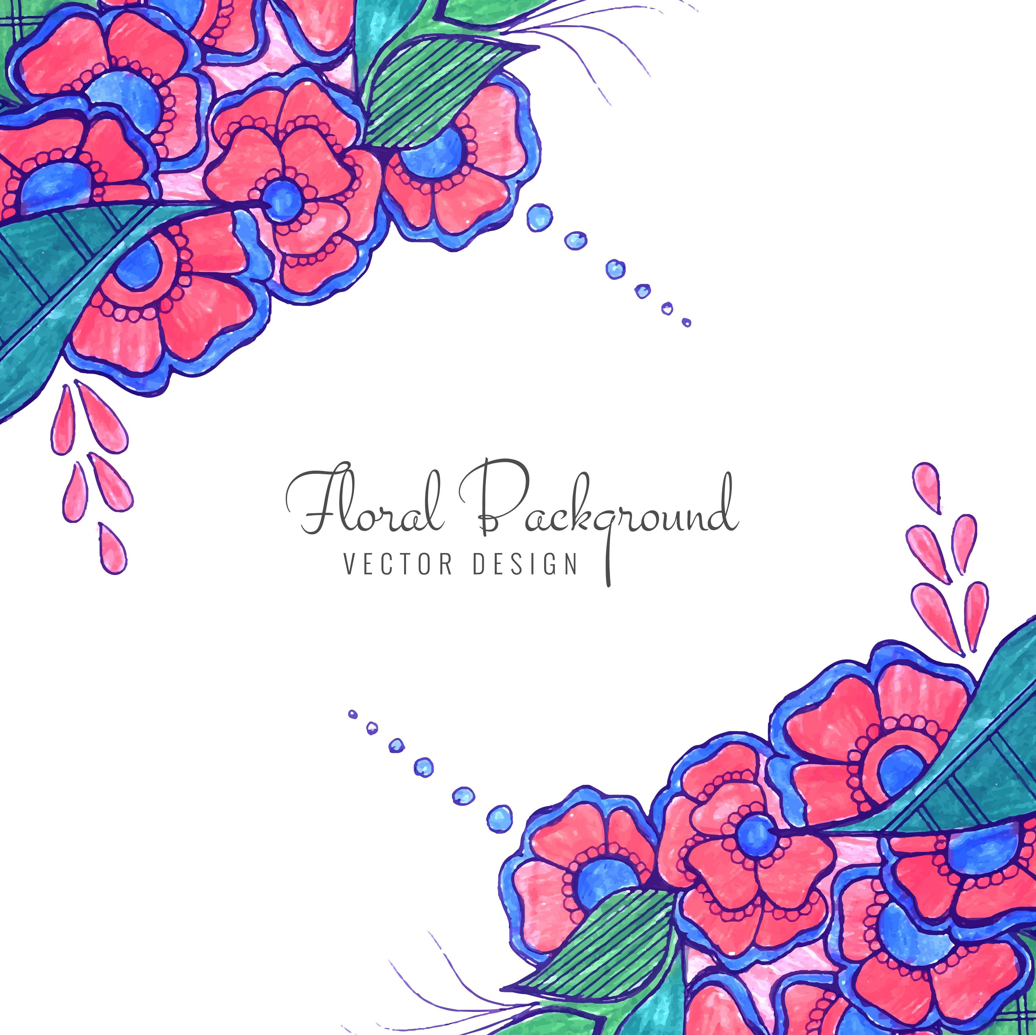 Modern Decorative Creative Wedding Colorful Floral Background