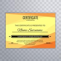 Modern bright certificate template design