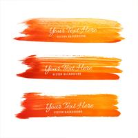 Hand drawn watercolor stroke orange shade design