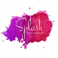 Abstract watercolor colorful splash on white background