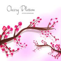 Modern decorative cherry blossom background