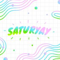 saturyay bokstäver vektor