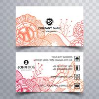 Beautiful floral business card background