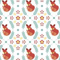 Platte minimalistische Scandinavische folk patroon Vector sjabloon