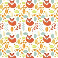 Flat Colorful Scandinavian Folk Pattern Vector Template