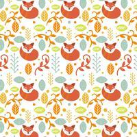 Plantilla de Vector de patrón Folk escandinavo colorido plano