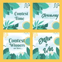 Instagram Contest Template Vector Design