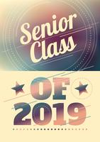 Senior klass typografi
