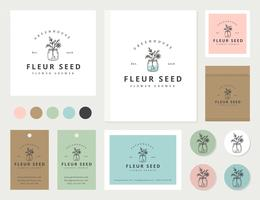 Pretty Feminine Hand Drawn Branding Vector Set