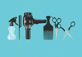 Realistic Salon Tools Vector
