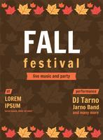 Cartaz da música do festival da queda