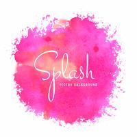 Design élégant splash aquarelle coloré