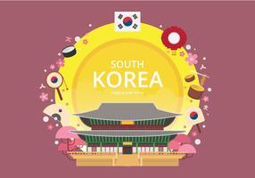 Cartolina del palazzo di Gyeongbokgung, simbolo di Gyeongbokgung di Seoul, Corea