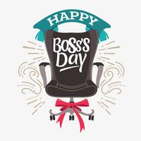 Illustratie van een Boss Office Chair voor Boss's Day