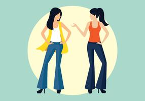 Bell Bottoms Vector Illustration