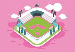 3D Baseball Park Vector