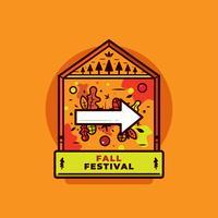 Vecteur de festival d'automne