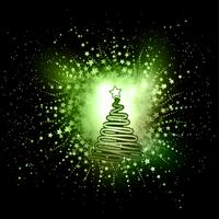 Abstracte kerstboom achtergrond