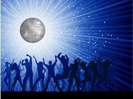 feestmensen op disco achtergrond