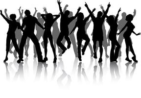 Group of party people vector