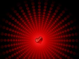 Herz auf Sternenexplosion