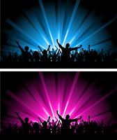 Two crowd scenes vector