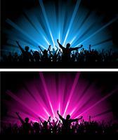 Duas cenas da multidão