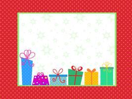 Fond de cadeau de Noël