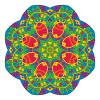 Conception de mandala de style aztèque