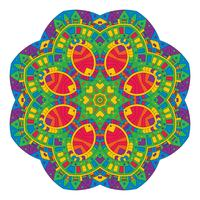 Aztec style mandala design